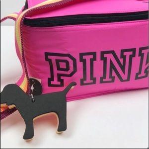 Victoria's Secret PINK cooler & Mini dog keychain